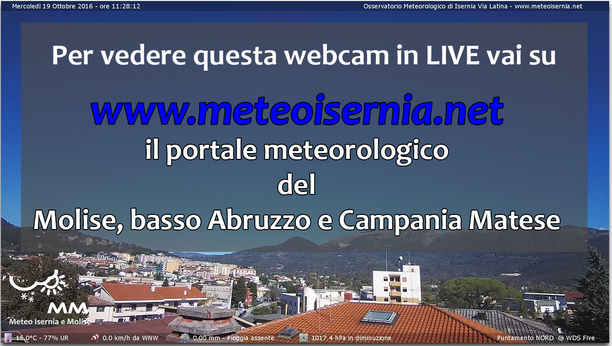 Webcam Isernia Nord 423 slm