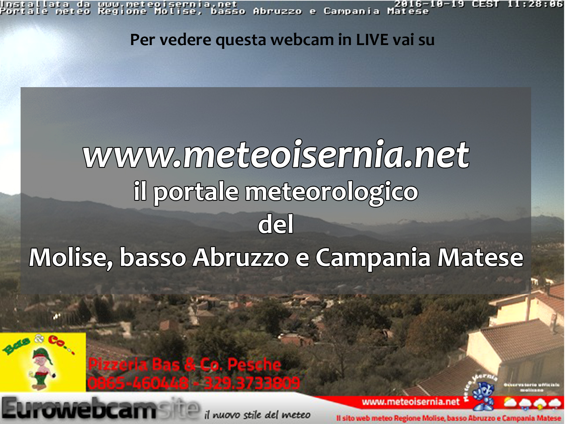 webcam uffiale di Pesche